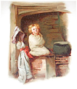 Antique Children German Boy Print
