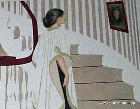 Vintage Art Deco Coles Phillips Fade Away Print 1912 Elegant Woman Formal Gown