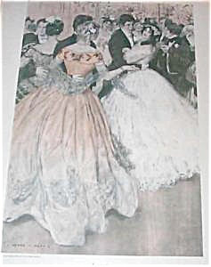 Antique Print: Victorian Ballroom Dancing Romance Henry Hutt