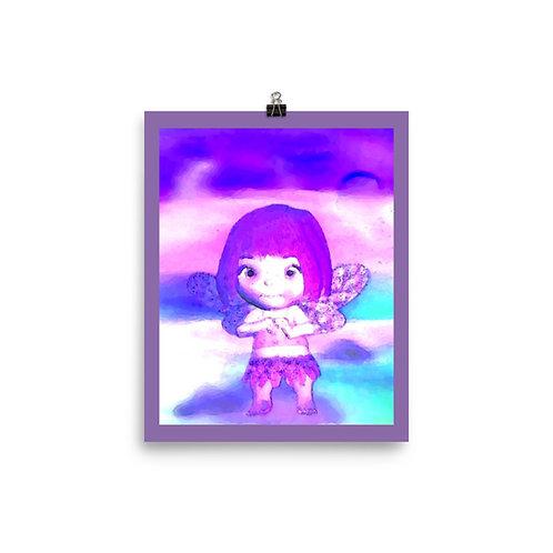 Trendy Tie Dye BoHo Chic Beach Fairy Print Giclee Artwork