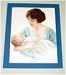 Antique Print New Mother Newborn Baby Brown & Bigelo