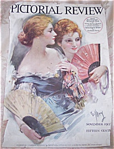 Pictorial Review Magazine Cover: E Williams : Ladies, Fans