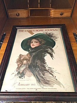 Vintage Ladies Home Journal Cover Harrison Fisher Well Protected