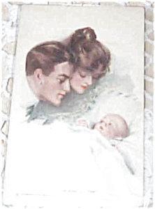 Artist Signed Postcards Harrison Fisher King Hearts Newborn Baby