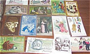 Antique Postcard Mixed Lot Of 25 Romance Satire