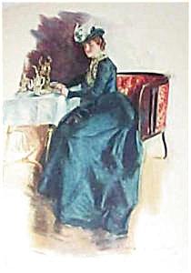 Vintage Kitchen Print Afternoon Tea Howard Chandler Christy