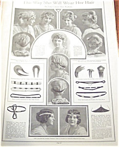 Antique & Vintage Prints Fashion Ads Hairstyles, Jewelry