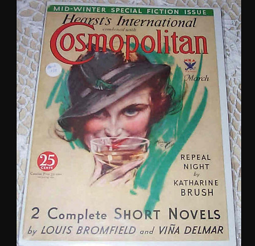 Art Deco Champagne Wine Art Vintage Harrison Fisher Cosmopolitan Magazine Cover