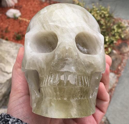 "5.2"" Realistic Smoky Citrine Quartz Crystal Skull - Abundance Energy Generator"