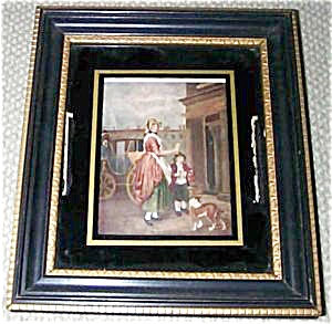 Old Reverse Painted Frame/print