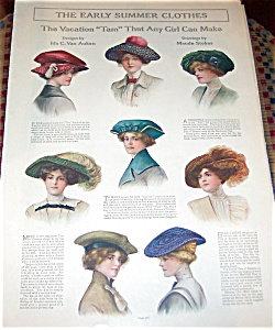 Antique & Vintage Prints Fashion Ads Art Nouveau Hats