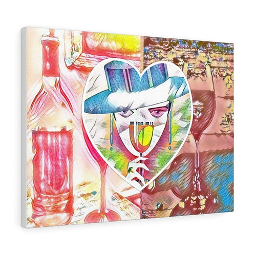 Wine Art Canvas Print Gallery Wrap BOHO Chic Home Decor Kitchen & Dining