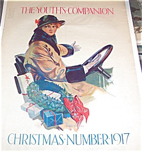 Vintage Christmas Shopping Print Charles Holmes Art Deco Lady