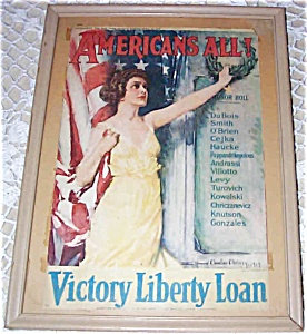 Wwi Victory Liberty Loan Howard Chandler Christy Print: