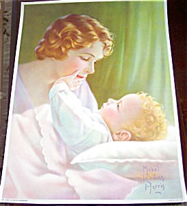 Vintage Print Mabel Rollins Harris Mother And New Baby
