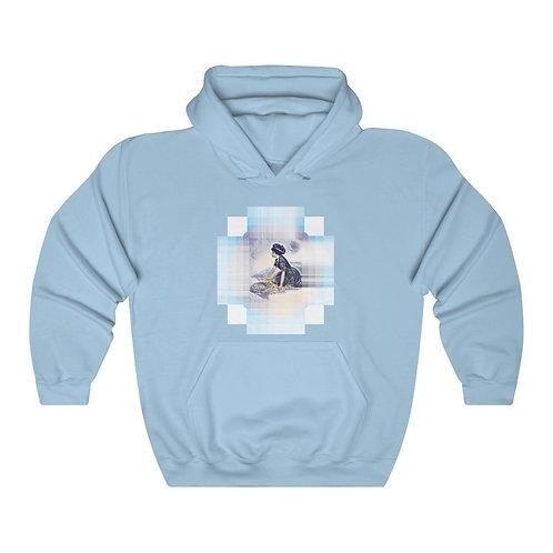 Beachy Hooded Sweatshirt Beach Art Hoodie Reg and Plus Size Vintage style