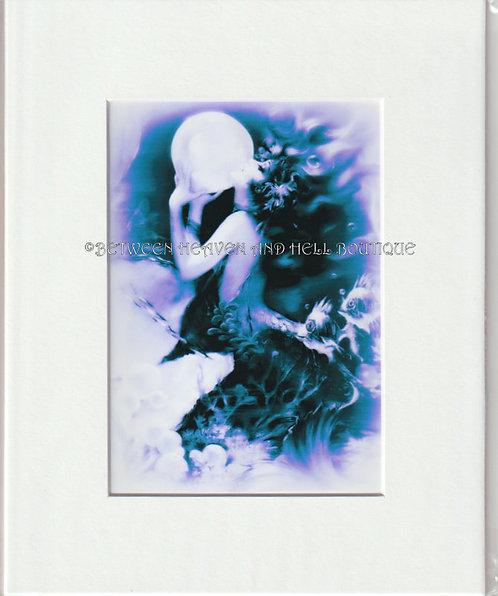 8x10 Print Mermaid Art Deco Beach Cottage Artwork BOHO Chic bathroom Decor