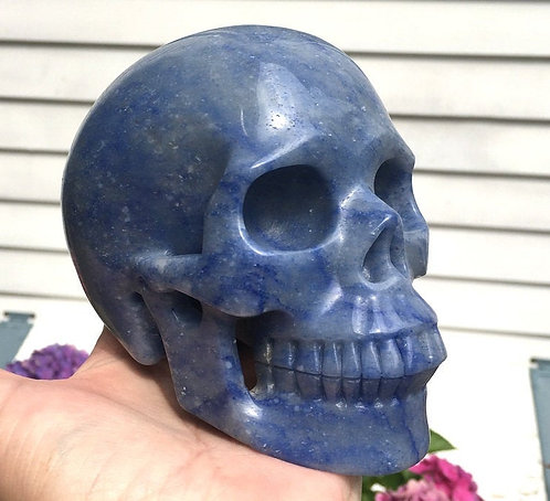 "5.2"" Large Activated Blue Aventurine Crystal Skull - Open Your Psychic Gifts"
