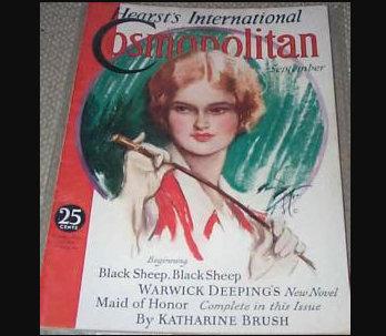 1932 Vintage Cosmopolitan Magazine Horseback Riding Harrison Fisher Cover Art