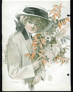 C.b. Dillon Equestrian Lady Victorian Scrapbook Page Print