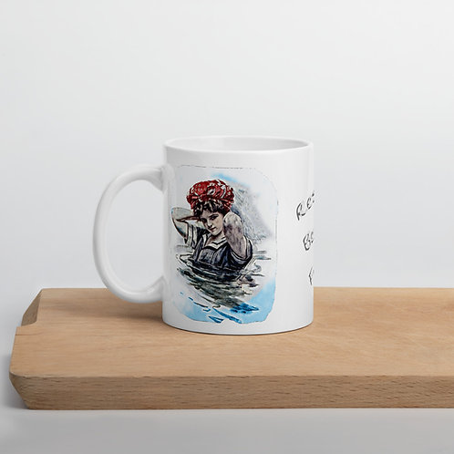 Resting Beach Face Coffee Mug Beachy Kitchen Decor BOHO Chic Kitchenware