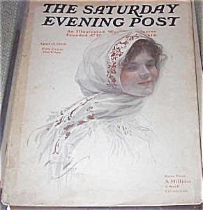 Saturday Evening Post Magazine Harrison Fisher Lady 1909