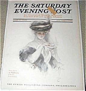 Saturday Evening Post Harrison Fisher Tea Time