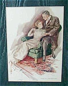 Vintage Print Harrison Fisher 1909 Romance