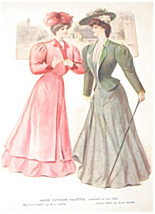 Antique & Vintage Prints Fashion Ads Outdoor Toilettes