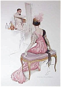 Vintage Harrison Fisher Print: Lady Being Painted By Artist