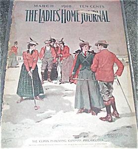 Victorian Golfing Couple Aj Keller Cover Art Ladies Home Journal