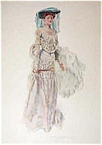 Antique Print Howard Chandler Christy Lady Parasol Fashion