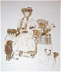 Vintage Dog Art Prints: Poodle, Bulldog, Pomeranian Terrier