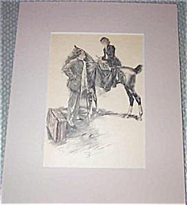 Harrison Fisher Print- Lady On A Horse W/her Man