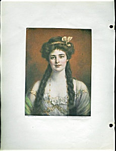 Brown & Bigelow Print Marguerite Victorian Scrapbook Page