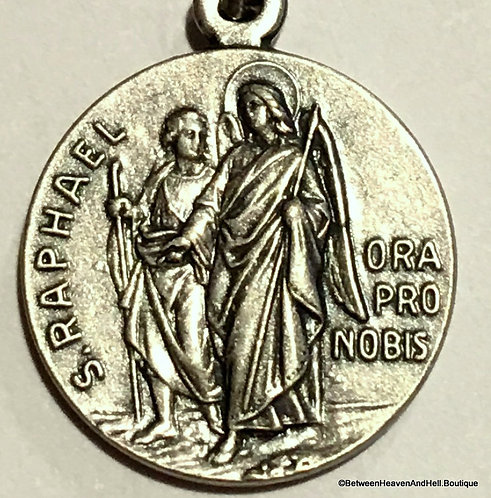 Religious Jewelry Vintage Saint Raphael Archangel Holy Medal Guardian Angel
