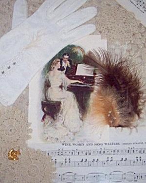 Victorian Art Print Antique Fabric Piano Romance Harrison Fisher