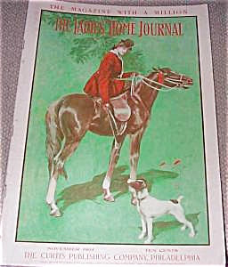 Ladies Home Journal Harrison Fisher Cover Art Horse Lady Dog