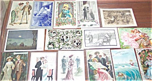 Antique Postcard Mixed Lot Of 25 Romance