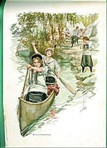 Harrison Fisher Prints: Paddling Their Own Canoe Girls Camp