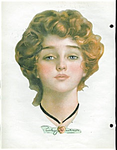 Penrhyn Stanlaws Redhead Victorian Scrapbook Page Print