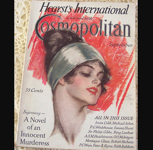 Vintage Sexy Art Deco Lady Harrison Fisher Cosmopolitan Magazine Cover Art