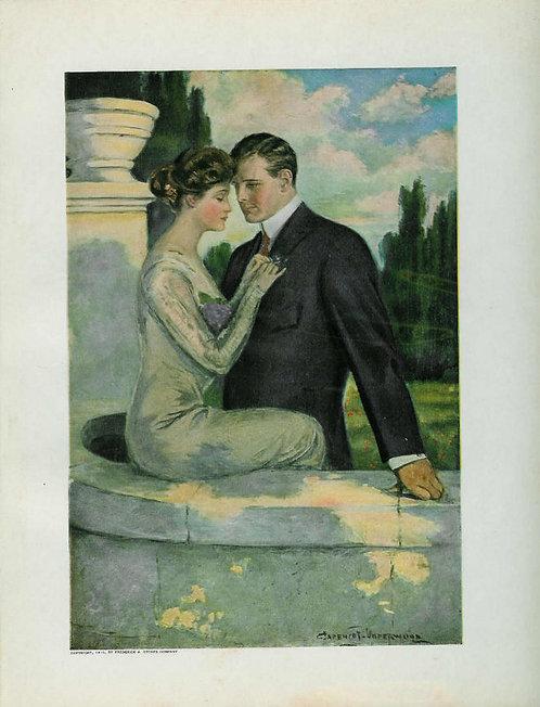Couples & Romance Antique Print: Clarence Underwood 1910