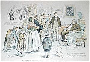 Antique Christmas Puck Magazine Art Print J Opper 1893