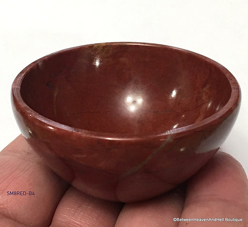 Red Jasper Gemstone Bowl, Raise Kundalini, Manifestation Vessel, Dream Recall