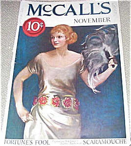 Vintage Mccalls Magazine Cover Art Roaring 20's Fashion