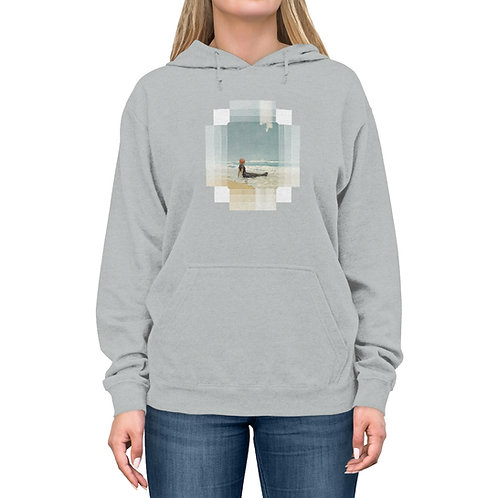 Beachy Lightweight Pullover Hoodie Pure Bliss for Chilly Nights at the Beach