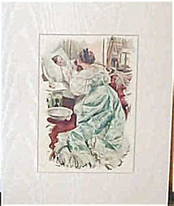 Vintage Art Print Harrison Fisher Nursing