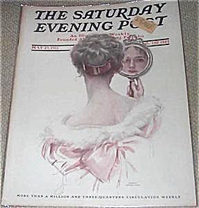 Vintage Harrison Fisher Saturday Evening Post Vanity Lady