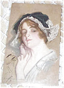 Artist Signed Postcard Harrison Fisher Dutch Girl Peggy